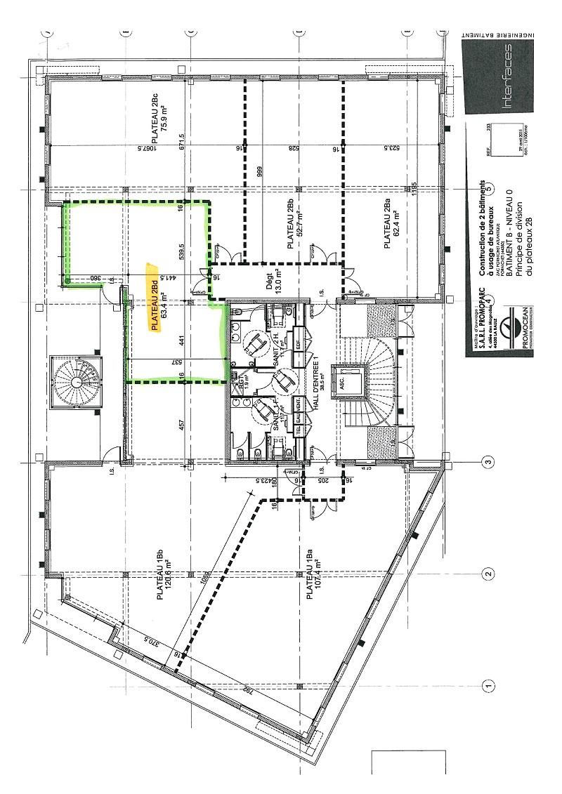 Bureaux à vendre - 63.0 m2 - 44 - Loire-Atlantique
