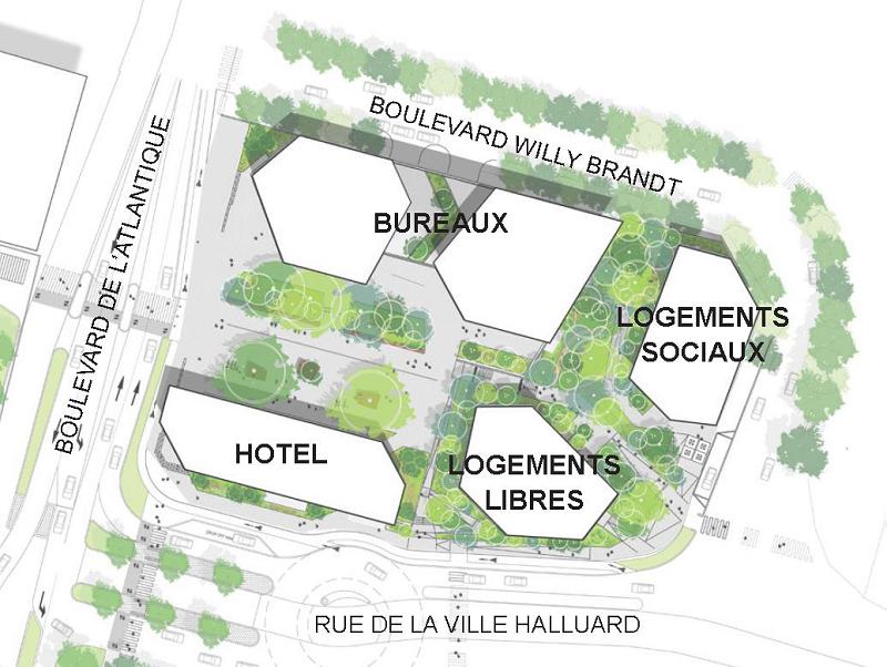 Bureaux à louer - 468.0 m2 - 44 - Loire-Atlantique