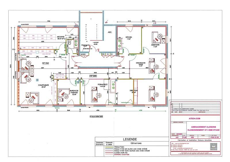 Bureaux à vendre - 250.0 m2 - 44 - Loire-Atlantique