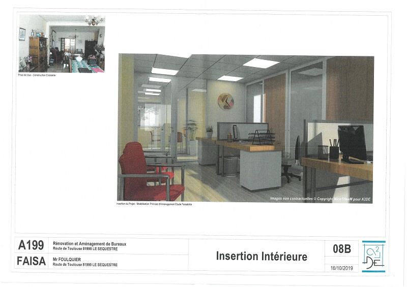 Bureaux à louer - 128.0 m2 - 81 - Tarn
