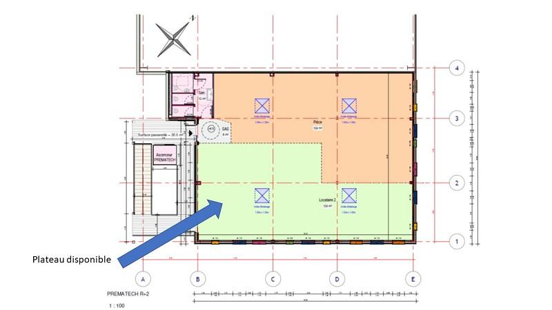 Entreprise à louer - 124,0 m2 - 44 - PAYS-DE-LOIRE