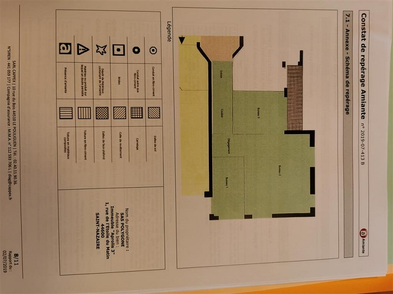 Bureaux à louer - 66.0 m2 - 44 - Loire-Atlantique